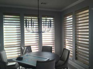 shutter windows in dining area