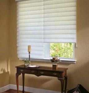 sliding shutter window near the table