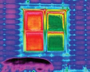 thermal view of the house